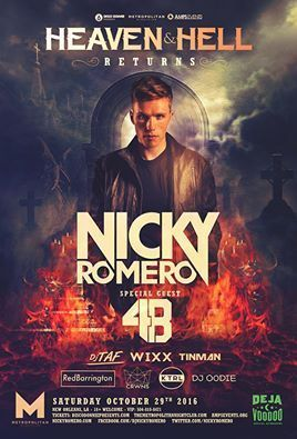 nicky romero in new orleans